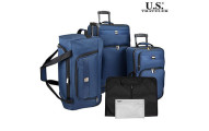 5-Piece Set: U.S. Traveler Complete Rolling Luggage