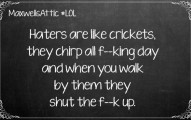 Crickets Are Like Haters