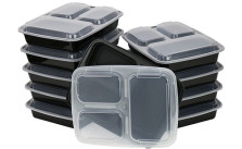 ChefLand 3-Compartment Microwave Safe Food Container