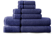 Spa Collection 6-Piece Luxury 100% Cotton Sheared Border Towel Set