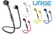 URGE Basics BK-Sport Bluetooth 4.0 Tangle-Free Earbuds