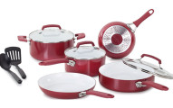 WearEver C943SA Pure Living Nonstick Ceramic Coating PTFE-PFOA-Cadmium Free Dishwasher Safe Cookware set