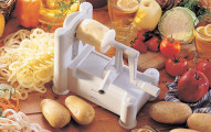Paderno World Cuisine A4982799 Tri-Blade Plastic Spiral Vegetable Slicer