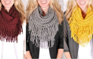 fall fringe scarves