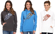 north face leopard hoodie