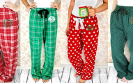 christmas flannel pants
