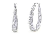 Inside Out Swarovski Elements Hoop Earrings