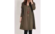 Loose Fitting Shift-Dress