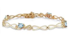 Blue Topaz Love Bracelet