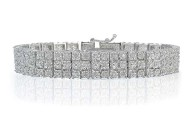 Diamond Miracle Set 3-Row Tennis Bracelet