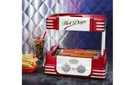 Retro Series Hot Dog Roller with Bun Warmer