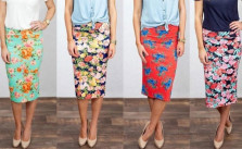Jane Floral Pencil Skirts