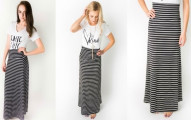 Jane Striped Maxi Skirt