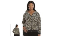 Plus Size Juicy Couture Pleated Velour Hoodie