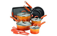Rachael Ray 14-Piece Hard Enamel Nonstick Cookware Set