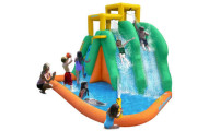 Twin Falls Inflatable Water Slides and Splash Pool Area