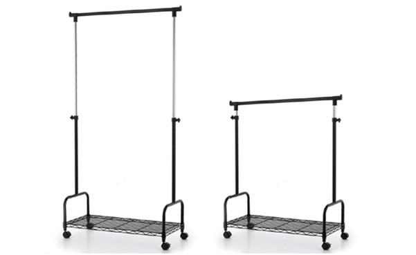 Yugster Telescopic Rolling Garment Rack