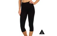 3-Pack: Andrew Scott Black Cotton Capri Leggings