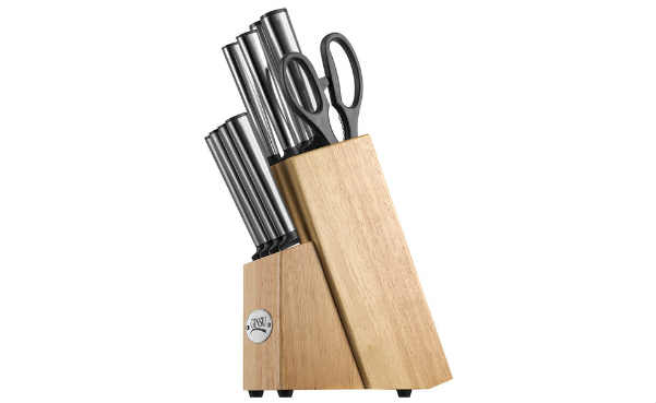 Ginsu Koden Series 10-Piece Natural Block Cutlery Set