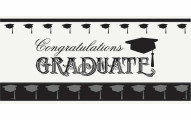Classic Graduation Wall Banner & Photo Prop