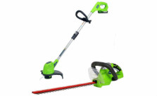 Greenworks 20V Li-Ion String Trimmer & Hedge Trimmer Set