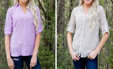 Jane Chiffon Button Up
