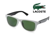 Lacoste Sunglasses with White Frames & Green Lenses