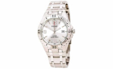 Pulsar Men's On the Go Collection PXH705 Sport Silver-Tone White Dial Watch