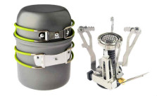 Camping Stove and Cookware Set