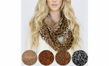 Leopard Print Infinity Sherpa Fashion Scarves