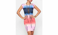 Tie-Dye Exquisite Crew Neck Dress
