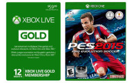 Xbox LIVE 12 Month Gold Membership Card + Pro Evolution Soccer 2015
