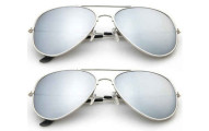 2-Pack: Designer-Inspired Mirrored Aviator Sunglasses