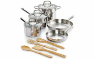 Martha Stewart Collection 12-Piece Stainless Steel Cookware Set