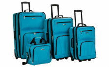 Rockland Luggage Deluxe 4 Piece Luggage Set