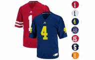 NCAA ADIDAS Collegiate Official Football Jersey