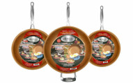 GOTHAM STEEL 3-Piece Nonstick Frying Pan Set