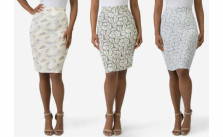 Sociology Print Pencil Skirt