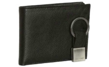 Calvin Klein Leather Trifold Wallet and Key Fob Set