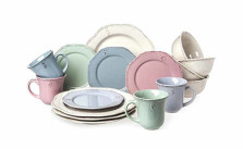 Cuisinart Multi-Color Parisian Feast Stoneware Set (16 Piece)