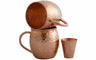 Moscow Mule Copper Mugs with Shot Glass