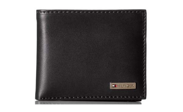 Tommy Hilfiger Leather Men's Multi-Card Passcase Bifold Wallet with Removable Card Case