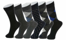 Alpine Swiss 6 Pack Men's Cotton Dress Socks
