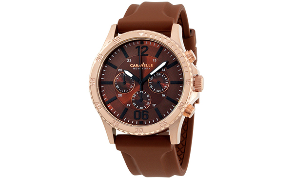 Caravelle New York 44 mm Brown Men's Watch