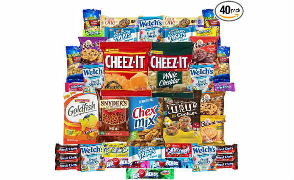 Cookies Chips & Candies Snacks Care Package Variety Pack