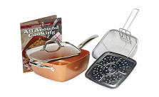 Tristar Products 5 Piece Chef Pan with Glass Lid