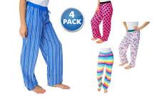 4-Pack Love 2 Sleep 100% Cotton Ladies Pajama Pants