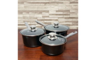 6-Piece Steel Non-Stick Saucepan Cookware Set