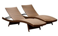 Abbyson Living Redondo Outdoor Adjustable Chaise Lounges 2-Pack