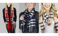 Boyfriend Plaid Scarf